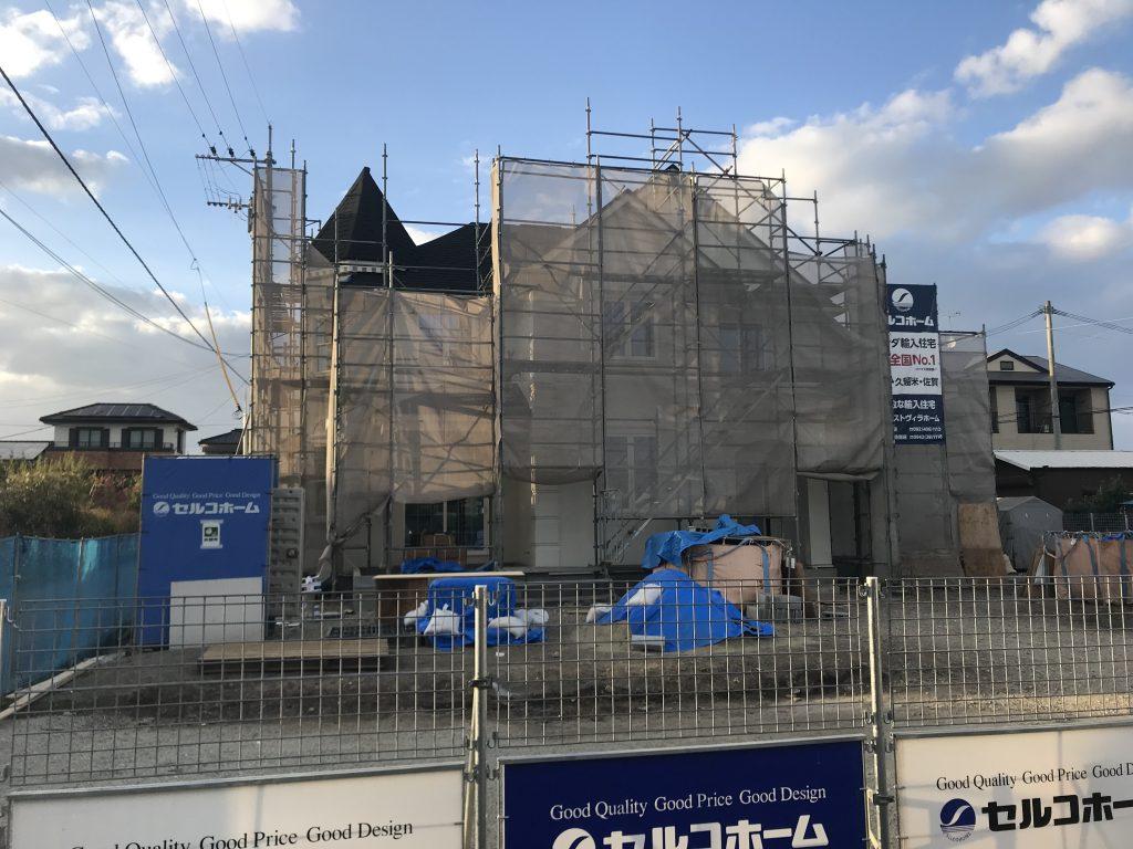 セルコホーム久留米の全国一斉見学会会場の工事風景